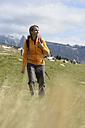 Italy, Alto Adige, Urtijei, portrait of smiling hiker - LBF001235