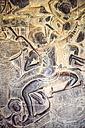 Cambodia, Siem Reap, stone carving at Angkor Wat - EH000250
