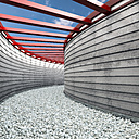 Passageway covered with pebbles, 3D Rendering - UWF000619