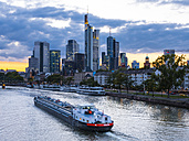 Germany, Frankfurt, River Main, skyline of finanial district in background - AMF004311