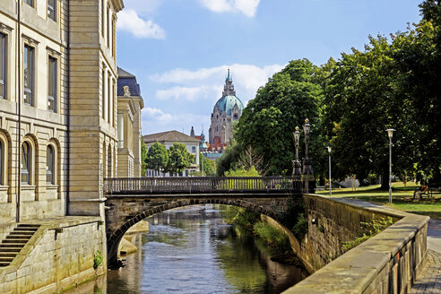 Germany, Lower Saxony, Hanover, Am Hohen Ufer, Leine river - KLRF000212
