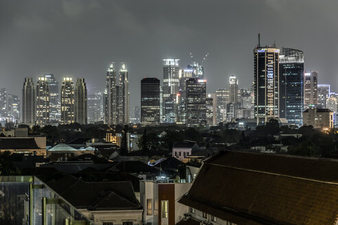 Indonesia, Jakarta, Cityview at night - WEF000365