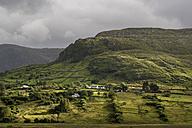 Ireland, County Galway, View of hills of Connemara, lighting mood - ELF001626