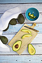 Whole and sliced avocado - LVF003977
