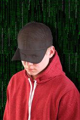 Hacker with basecap - KLR000240