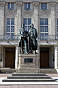 Germany, Thuringia, Weimar, German National Theatre, Goethe-Schiller Monument - KLRF000249