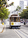 USA, San Francisco, Cable Car at Taylor Street - SBD002322