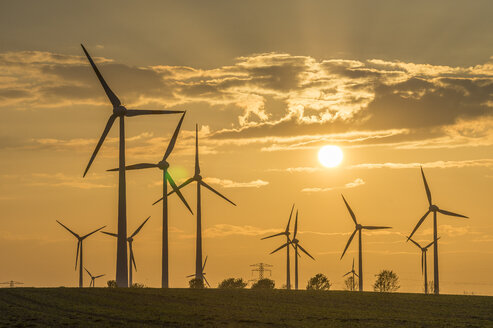 Wind farm at sunset - PVCF000709