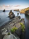Spain, Galicia, Ferrol, Seascape with a man - RAEF000547