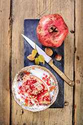 still life with juice, pomegranate and nuts - VTF000452
