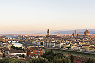Italy, Tuscany, Florence, cityscape in the evening - FOF008292