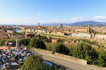 Italy, Tuscany, Florence, View from Piazzale Michelangelo, cityscape - FO008295