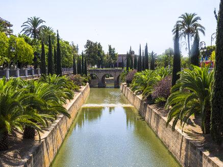 Spain, Mallorca, Palma de Mallorca, City canal Sa Rierra, Porta de Santa Catalina - AMF004368
