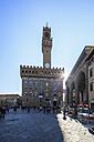 Italy, Florence, view to Palazzo Vecchio at Piazza della Signoria - FOF008298