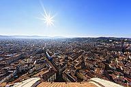 Italy, Tuscany, Florence, City view against the sun - FOF008331