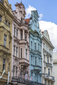 Czechia, Plzen, facades of old houses built in Renaissance style - MABF000342