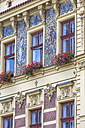 Czechia, Plzen, part of house facade with stucco and sgraffito - MABF000344