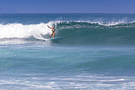 Indonesia, Bali, surfing woman - KNTF000142