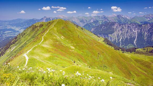 Germany, Bavaria, Allgaeu Alps, hiking trail from Fellhorn to Soellereck - WGF000746