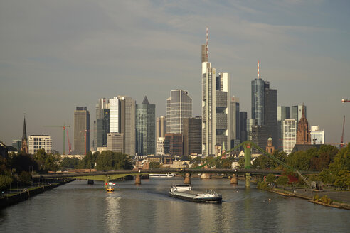 Germany, Frankfurt, financial district and Main river - PC000195