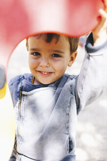 Portrait of smiling boy at the playground - EBSF000992