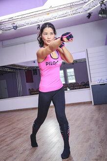 Asian woman exercising piloxing - VT000457