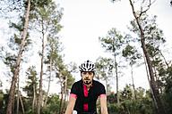 Cyclist riding a bike - JRFF000165