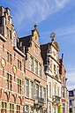 Belgium, Ghent, old town, Korenlei, row of historical houses - WDF003354
