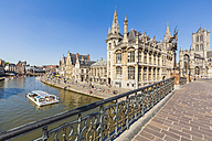 Belgium, Ghent, old town, historical houses at River Leie - WD003357