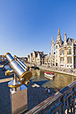Belgium, Ghent, old town, historical houses at River Leie - WDF003366