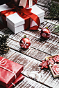 Red Christmas decoration and Christmas presents - AKNF000028