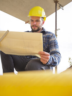 Portrait of foreman with construction plan - LAF001552