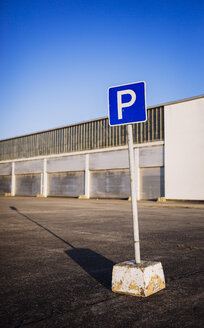 Parking sign on old runway - DASF000016