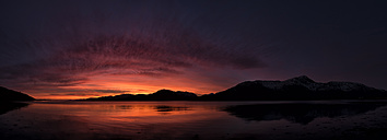 United Kingdom, Scotland, Loch Linnhe at sunset - ALRF000111