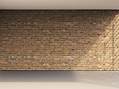 3D rendering of interior brick wall and grey floor - UWF000647