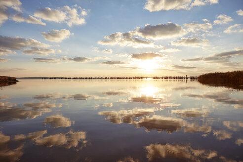 Germany, Mecklenburg-Western Pomerania, Ruegen Island, Glowe, Spyckerscher See at sunset - SEGF000429