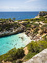 Spain, Baleares, Mallorca, View of bay Calo des Moro - AMF004396