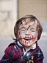 Portrait of smiling little boy with Halloween face painting - XCF000040