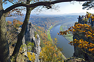 Germany, Saxony, Saxon Switzerland, Elbe Sandstone Mountains, Elbe River, view from the Bastei - RJ000528
