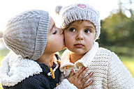 Little girl kissing another little girl - MGOF001066