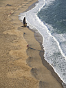 Portugal, Nazare, view to the beach from above - LAF001569