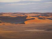 Africa, Namibia, Hardap, Hammerstein, Kulala Wilderness Reserve, Tsaris Mountains, Sossusvlei Region, Namib desert at sunset - AMF004436