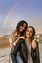 Portrait of two female friends having fun together - MGOF001079
