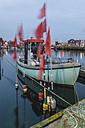 Germany, Eckernfoerde, fishing boat in harbor - KEBF000282