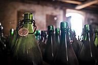 Germany, Burghausen, empty beer bottles at Raitenhaslach Abbey - HAMF000101