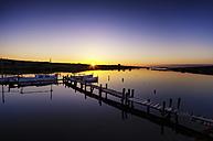 Spain, Menorca, Harbour at sunset - SMAF000397