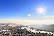 Germany, Bavaria, Bohemian Forest in winter, View from Great Arber - FOF008362