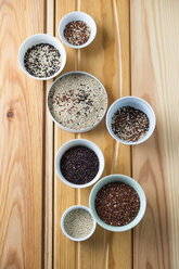 Bowls of different quinoa - MYF001243