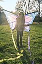 Young girl with kite - SARF002347