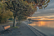 Germany, Constance, Bench at Lake Constance - KEBF000295